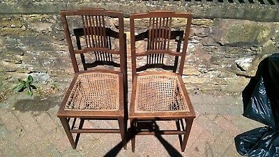 Vintage Antique Wicker Raffia Dining Chairs Need Restoration. Perfect Project