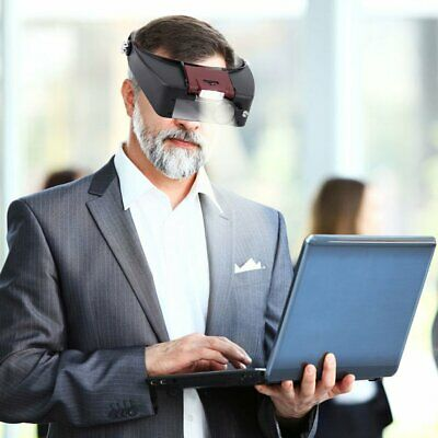 Head Wearing Magnifier Magnifying Glasses Headband With LED Light Lamp SW