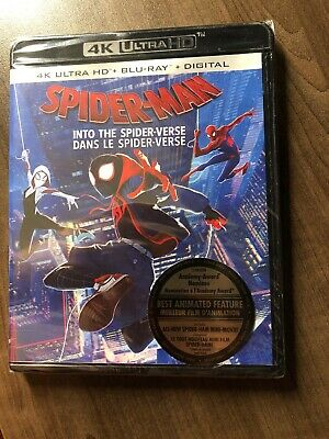 Spider-Man Into The Spiderverse 4K & Blu-Ray w Slipcover Canada NO DC LOOK