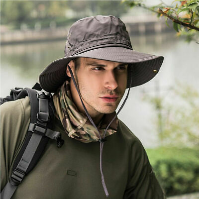 Hot Bucket Hat Boonie Hunting Fishing Outdoor Cap Wide Brim Military Sun Hats