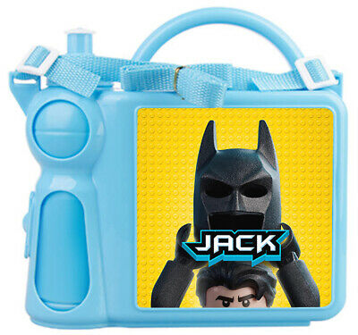 Personalised Kids Lunch Box + Bottle Any Name Lego Batman Childrens Boys School
