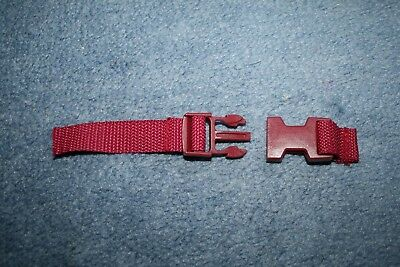 Mothercare Orb pushchair sit up leg back buckle part spare replacement - red