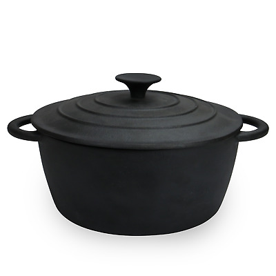Cast Iron Casserole Dish With Lid | Slow Cooking Dutch Oven | Non-Stick | M&W