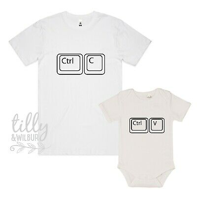 Control Paste, Ctrl C Ctrl V Father Son Matching Shirts, New Dad, Father's Day