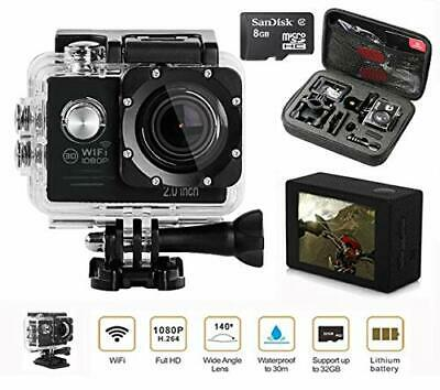 Action Camera Bundle-Go Pro -Memory Card 1080P HD WIFI Sports Carry Case