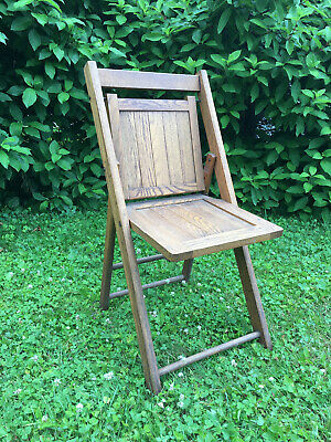 Vintage Antique Wooden Folding Chairs Wood Slat Seats . 140 available