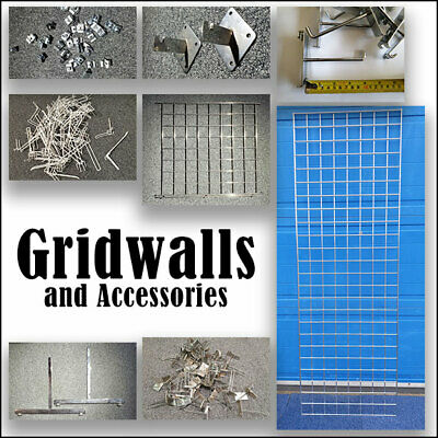 Gridwall Panels & Accessories: Heavy Duty Mesh Chrome Shop Display retail exhibi