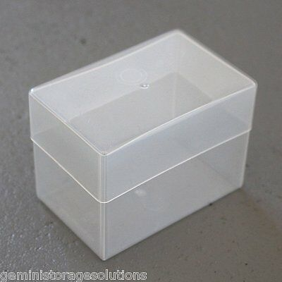 Clear Deep Business Card Sequin / Bead /Craft & Diy Storage Box With Lid