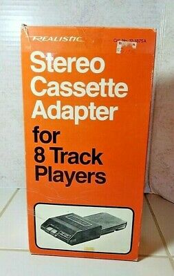 Realistic Stereo Cassette Adapter for 8 Track Players 1970's New old Stock