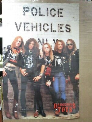 Vintage Dangerous Toys 1990 poster hard rock band artist music 13123