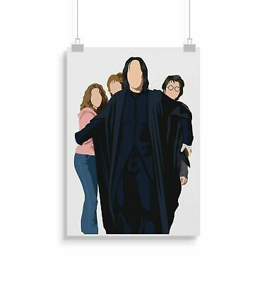 224265 Snape Harry Ron Hermione Harry Potter Decor PRINT POSTER AU
