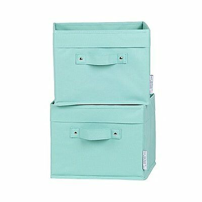 South Shore 100032 Storit Canvas Baskets Turquoise Pack of 2