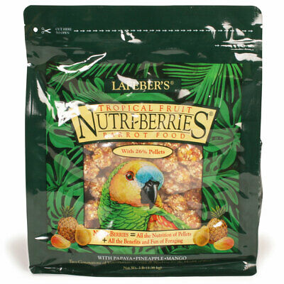Nutriberries TROPICAL FRUIT Complete Parrot Food AMAZON AFRICAN GREY MACAW