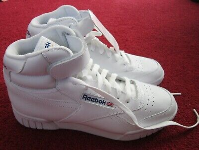 Brand New Without Box Reebok Classic Ex-O-Fit Hi-Top Trainers Uk Size 7 In White