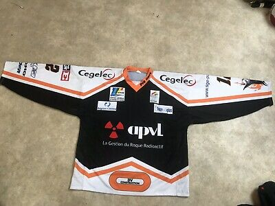 Maillot Roller Hockey Sur Glace Ancien Tours Numero 12 Taille XXL