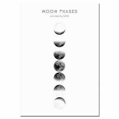 217446 Moon Phases Abstract Nordic Decor PRINT POSTER CA