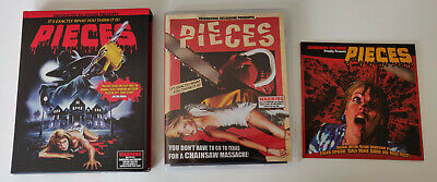 Pieces Blu Ray Grindhouse Releasing 2 Disc + Soundtrack CD Region Free