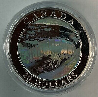 The Rockies 2003 Canada 1 oz Silver $20 Natural Wonders Coloured Coin