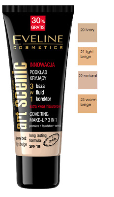 Eveline Professional Art Scenic Make-Up Covering 3In1 Primer Foundation Conceale