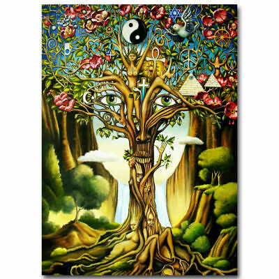 218589 Tree of Life Psychedelic Trippy Abstract Decor PRINT POSTER US