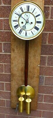 Vienna double weighted wall clock complete. fully restored to a high standard