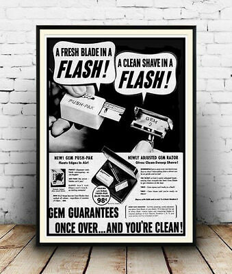 231771 A Fresh blade in a flash Shave Decor PRINT POSTER US