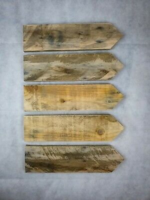 5 x Hand Made Rustic Wooden Direction Arrow Sign Posts, wedding / party signs