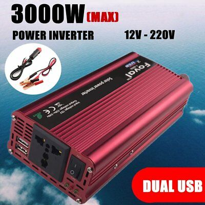Car 3000W converter power inverter DC 24V to AC 220V 230V 240V invertor UYT#&W&