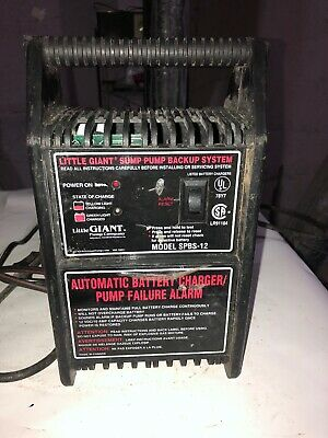 Little Giant Sub Pump Back Up System Model Spbs-12