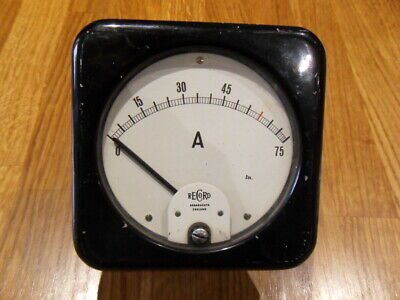 Vintage D.c. Amperes Record Meter Made In Broadheath England, Bakelite Body
