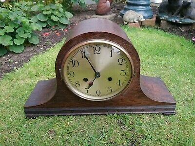 8 Day Oak Case Mantel Clock GWO