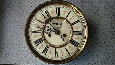 Twin Weight Vienna Wall Clock Movement, Dial Etc For Restoration Or Spares