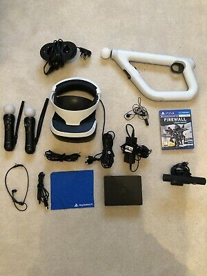 PSVR PlayStation VR - Headset - Move Controller - Aim Gun - Farpoint - All Cable