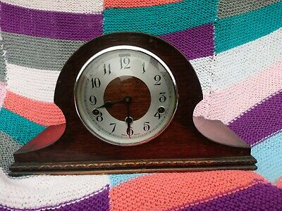 Large Oak Case Westminster Chimes 8 Day Mantel Clock Good Working Order
