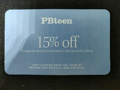 PB TEEN Pottery Barn 15% Off Purchase Home Furniture Online Promo Code Discount