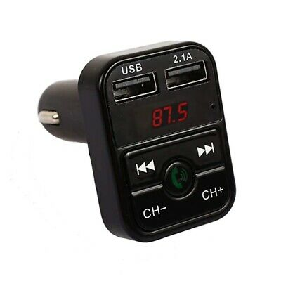 2 USB Bluetooth 4.1 LED Hands-free Car Kit Charger FM Transmitter MP3 Player TF