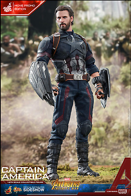 Hot Toys Avengers Infinity War Captain America Movie Promo Sixth Scale Figure