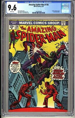 AMAZING SPIDER-MAN #136  CGC 9.6 WP NM+  9/74  1st Harry Osborn Green Goblin