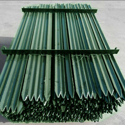 Green Y-Posts Rural 'Y' Steel Fence Post Star Picket Fencing Star Pickets RANGE