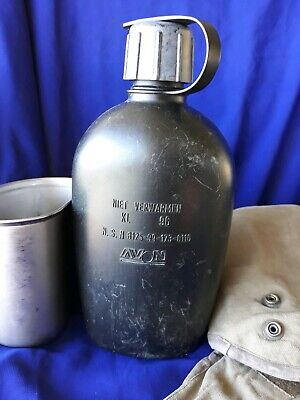 Original Dutch Army Canteen, stainless Cup & Cover set survival prepper camping
