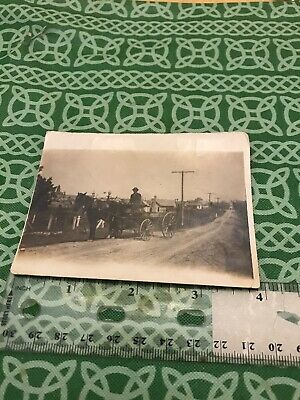 Antique Horse Drawn Buggy Grocery Cart Countryside Photo FREE SHIPPING