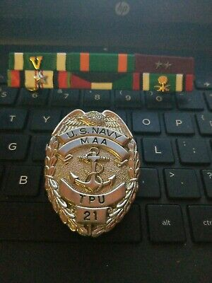 Us Navy Maa Badge/Ribbons The Maa  Badge Is Hard To Find---See Store /Auctions