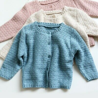 Baby Cardigan Kids Girls Boys Winter Knitted Sweater Jumper Pullover Knitwear