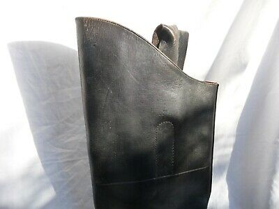 Pre WW2 Vintage Black Leather NSWFB Fireman's Boots. Motorcycle, horse, display.