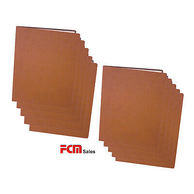 BULK SET 15 LEATHER & WOOD CLASSIC A4 Menu Folder with 10 Pockets FREE POST