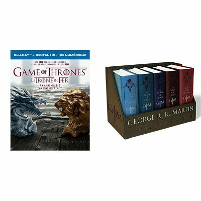 Game of Thrones: Seasons 1-7 [Blu-ray] with Thrones Leather-Cloth Boxed Set NEW