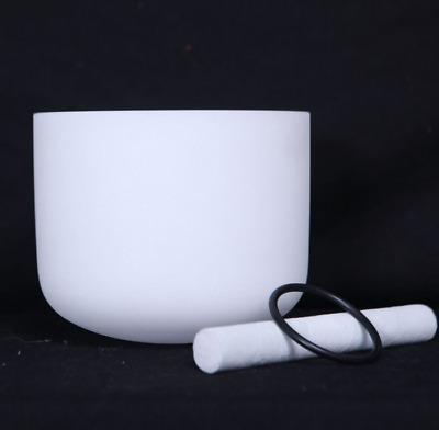 New Frosted Quartz Crystal Singing Bowl 12'' F# Musical Note Thymus Chakra