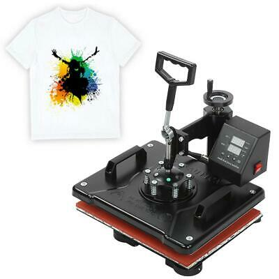 8 in 1 T-Shirt Heat Press Machine Cup/Mug/Plate Hat Sublimation Printing 220V