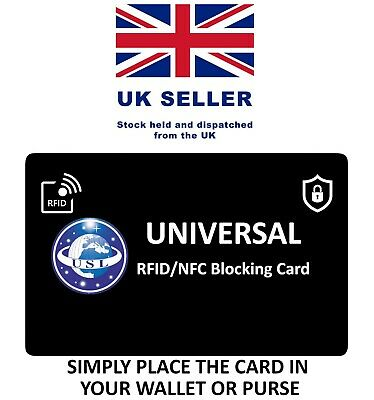 Universal - RFID Blocking Credit Card Protector NFC Contactless Signal Blocker