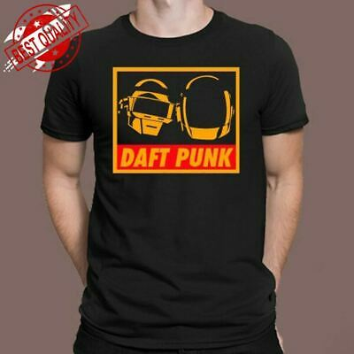 DAFT PUNK DJ Techno Electro Music Men's Black T-Shirt Size S M L Xl